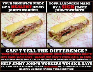 Jimmy John's Campaing poster.