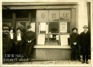 IWW hall in Everett. Courtesy Snohomish Co Library.