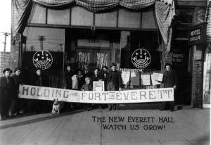 Reestablished Everett IWW hall following Everett Massacre, Nov 5, 1916.