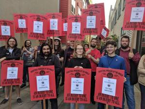 GCI picket Seattle June 14 2018